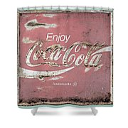 Coca Cola Pastel Grunge Sign Shower Curtain