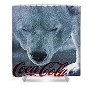 Coca Cola Polar Bear Shower Curtain