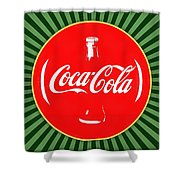 Coca Cola Pop Art  Shower Curtain