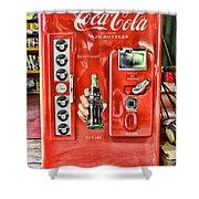 Coca-cola Retro Style Shower Curtain