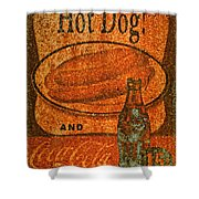 Coca Cola Rusty Sign Shower Curtain