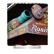 Coca Cola Sign Buenos Aires Shower Curtain