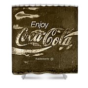Coca Cola Sign Shower Curtain