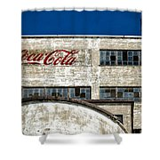 Coca Cola Sign On Old Factory Shower Curtain