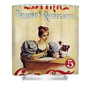 Coca - Cola Vintage Poster - Drink Delicious Refreshing Shower Curtain
