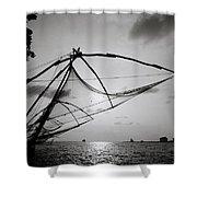Dusk Over Cochin Shower Curtain