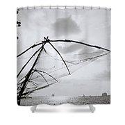 Sunset Over Cochin Shower Curtain