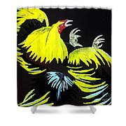 Cock Fight Or Flight Shower Curtain