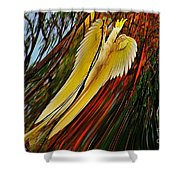Cockatoo In Abstract Shower Curtain
