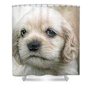 Cocker Pup Portrait Shower Curtain