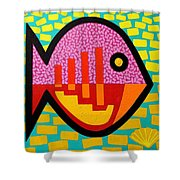 Cockleshell Fish Shower Curtain
