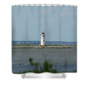 Cockspur Island Light Shower Curtain