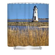 Cockspur Lighthouse In The Sanannah River Shower Curtain