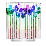 Cocktail Hour 1 Version 2 Shower Curtain
