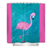 Cocky Flamingo Joe Shower Curtain