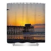 Coco Beach-760 Shower Curtain