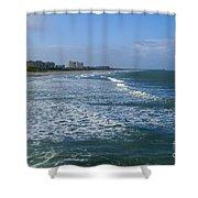Cocoa Beach Seascape Shower Curtain