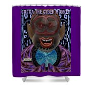 Cocoa The Cyber Monkey Shower Curtain