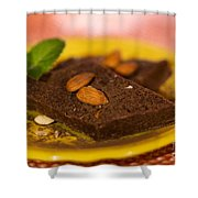 Coconut Almond Squares Shower Curtain