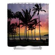 Coconut Island Sunset - Hawaii Shower Curtain