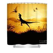 Coelurus Shower Curtain