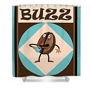 Coffee Buzz Shower Curtain
