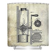 Coffee Mill Patent 1893 Shower Curtain