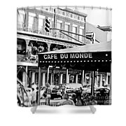 Coffee And Beignets Shower Curtain