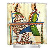 Coffee And Conversation Shower Curtain