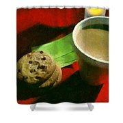 Coffee And Cookies At The Cafe Shower Curtain