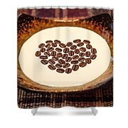 Coffee And Cream Shower Curtain