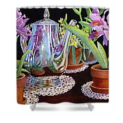 Coffee And Flowers Shower Curtain
