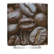 Coffee Bean Macro Shower Curtain