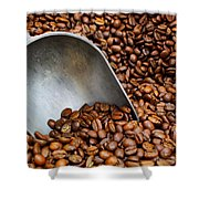 Coffee Beans With Scoop Shower Curtain