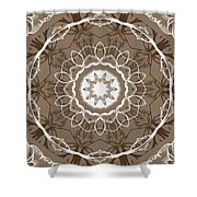 Coffee Flowers 1 Ornate Medallion Shower Curtain