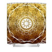 Coffee Flowers 1 Ornate Medallion Calypso Shower Curtain