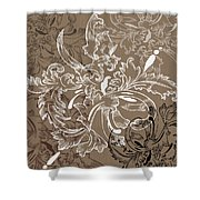 Coffee Flowers 11 Shower Curtain