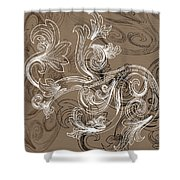 Coffee Flowers 2 Shower Curtain