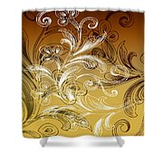 Coffee Flowers 4 Calypso Shower Curtain