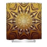 Coffee Flowers 4 Calypso Ornate Medallion Shower Curtain