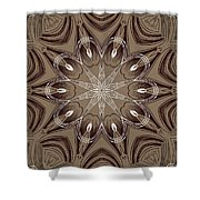 Coffee Flowers 4 Ornate Medallion Shower Curtain