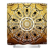 Coffee Flowers 5 Calypso Ornate Medallion Shower Curtain