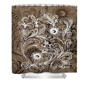Coffee Flowers 6  Shower Curtain