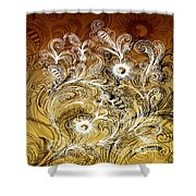 Coffee Flowers 6 Calypso Shower Curtain