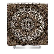 Coffee Flowers 6 Ornate Medallion Shower Curtain