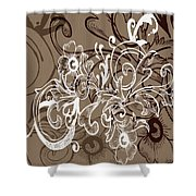Coffee Flowers 7 Shower Curtain