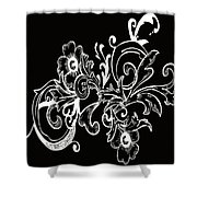 Coffee Flowers 7 Bw Shower Curtain