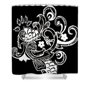 Coffee Flowers 8 Bw Shower Curtain