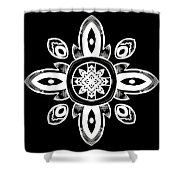 Coffee Flowers 8 Bw Ornate Medallion Shower Curtain