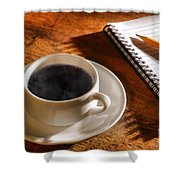 Coffee For The Writer Shower Curtain